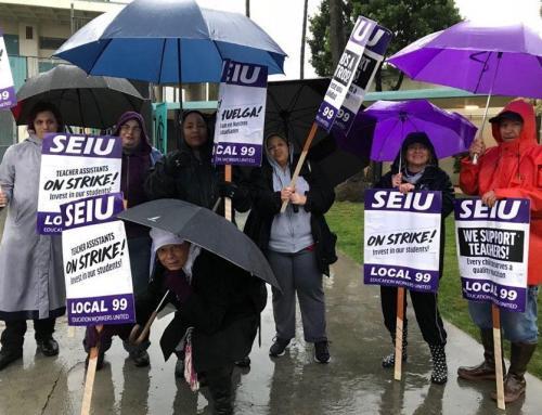 SEIU 99 Members Launch Second Wave of Sympathy Strikes