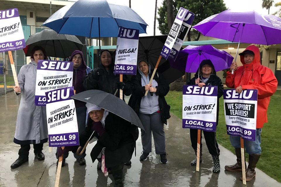 SEIU 99 Members Launch Second Wave of Sympathy Strikes