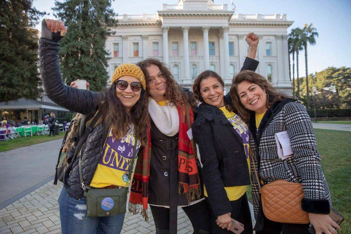 Providers Hit Sacramento to Secure the Right to Collectively Bargain