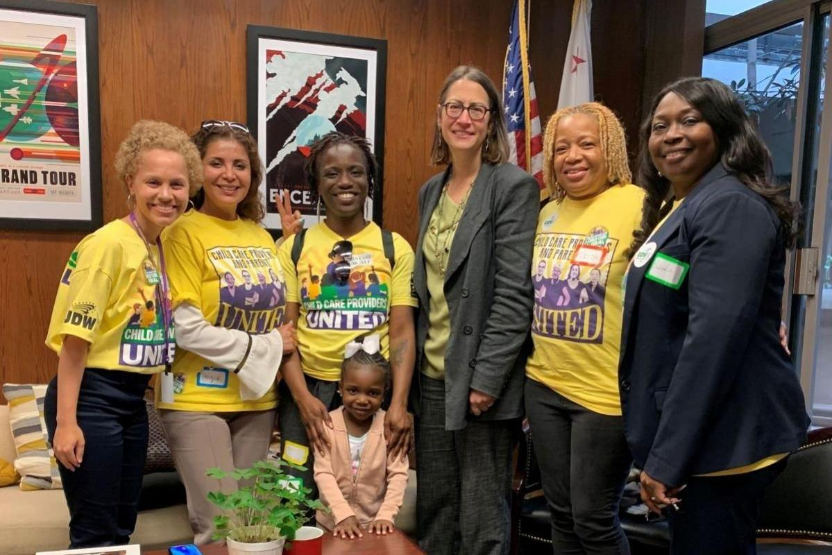 Child Care Providers Speak Out in Sacramento on International Workers Day Urge Legislators to Support Families' Top Needs: Good Union Jobs and Access to Quality Child Care