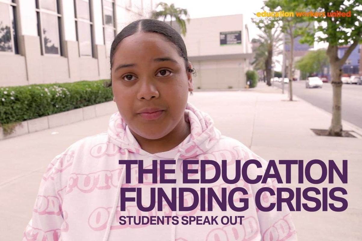 The Education Funding Crisis: Students Speak Out Crenshaw High student describes what insufficient funding at her school looks like.