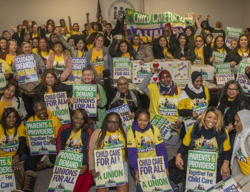 2020: What 40,000 United Child Care Providers Can Do Providers from across the state file over 10,000 cards of support at state offices in Sacramento, setting off our union election.